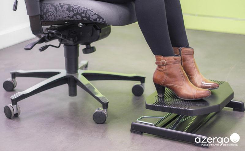 Travailler confortablement avec un repose-pieds