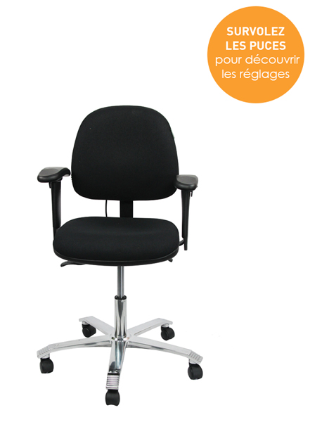 Siège ergonomique Ligne 2300 - S'asseoir confortablement au bureau