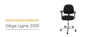 Réglages siège 2300 - Azergo
