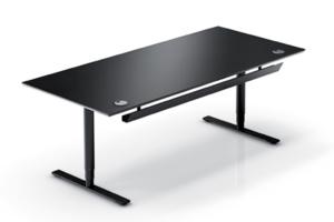 Bureau assis-debout réglable en hauteur électriquement