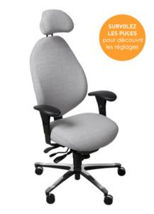 Siège ergonomique Relactive - Bien assis au travail