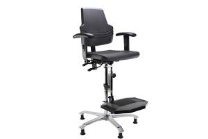 Siège ergonomique repose-pieds pour industrie - Azergo