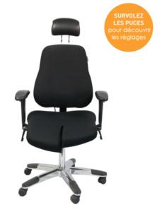 Siège ergonomique 5000 Arthrodèse - Assise dissociée