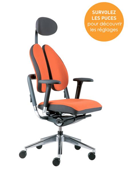 Mode d'emploi interactif- Réglages du siège ergonomique XDB