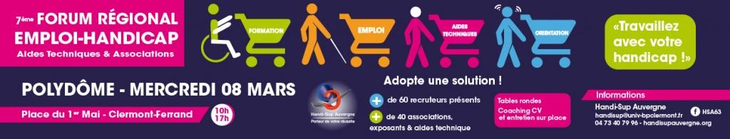 Azergo participera le 8 mars 2017 au forum Emploi Handicap organisé par Handi-Sup à Clermont-Ferrand.