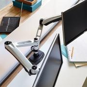 Bras Support Ecran Dual - Aménagement poste de travail sur ordinateur