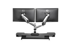 Bras Support Ecran Dual Vue de dos - Disposition ergonomique de l'écran