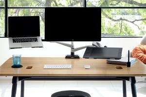 Bras Support ecran Dual Support PC et tablettes - Disposition ergonomique de l'écran