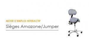 Réglages du siège ergonomique Amazone / Jumper - Assis-Debout
