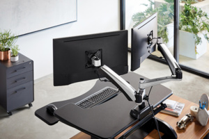 Bras support d'écran Dual - Prévention des risques liés au travail sur écran d'ordinateur