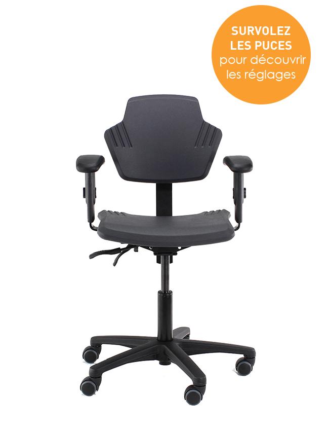 Siège ergonomique Spirit - Ergonomie et confort - Prévention des TMS