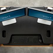 Plateforme Exec 40 - Travail debout ou assis sur deux écrans
