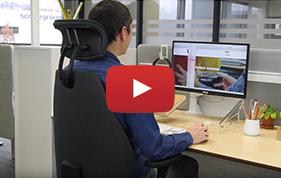 Siège ergonomique de bureau pour éviter les douleurs de dos