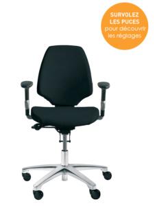 Bien régler sa chaise de bureau - Mode d'emploi du siège Activ 220