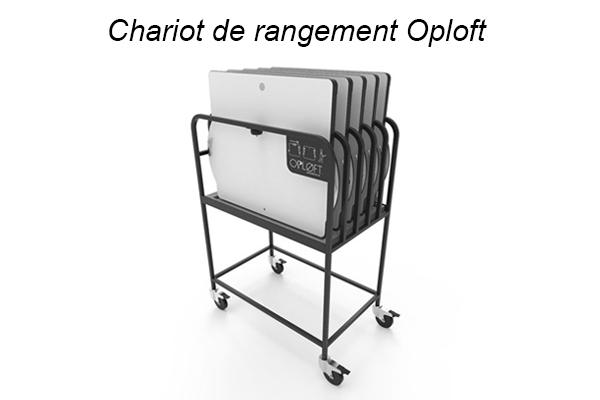 Chariot de rangement Oploft - Ergonomie & Bureaux partagés