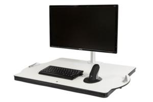 Plateforme Oploft : Travailler assis ou debout sur un ordinateur