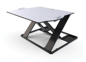 Plateforme Oploft pour poste de travail assis-debout avec ordinateur