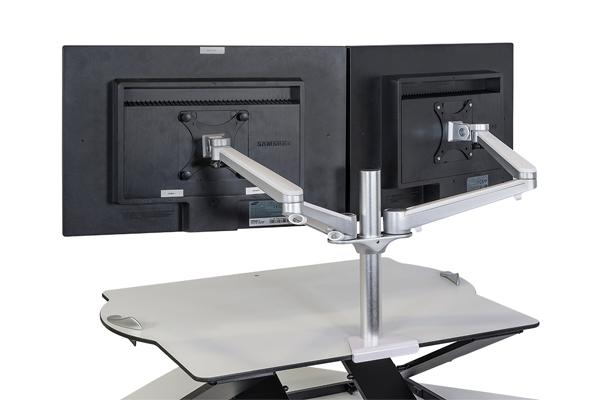 Bras pour 2 écrans ordinateur - Limite mal au dos - épaules- nuque