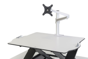 Santé au travail - Bras écran Oploft - Travail sur ordinateur sans douleura