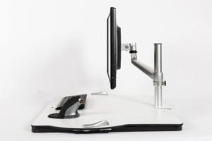 Bras d'écran Oploft - Travailler assis debout sur ordinateur sans douleurs