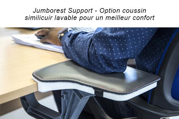 Repose-bras Jumborest Support en similicuir - Soutien du bras lors du ravail sur poste bureautique