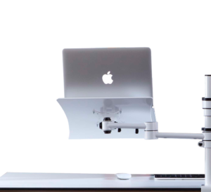 Bras support d'écran pour limiter les douleurs en télétravail sur ordinateur portable