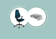 Télétravailler confortablement - Siège ergonomique pour limiter les douleurs au dos - Repose-pieds ergonomique pour activer la circulation