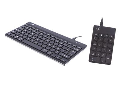 Clavier compact ergonomique et pavé numérique R-Go Break - Télétravail - Travailler à la maison sur ordinateur - Espace réduit - Confort de travail