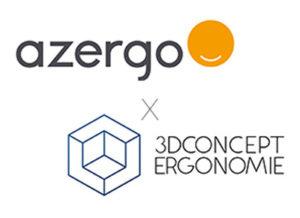 Communiqué de presse - Partenariat - Ergonomie - 3D concept - Azergo