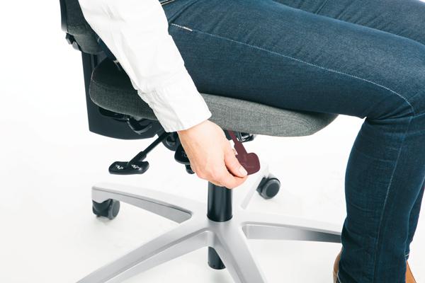 Réglage siège ergonomique - Hauteur de l'assise