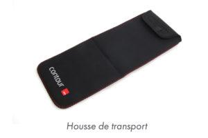 Housse de transport - RollerMouse Mobile- ergonomie au travail - télétravail - prévention torsions cervicales - Douleurs cervicales devant ordinateur portable - transport souris ergonomique