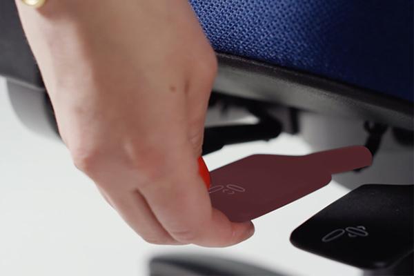 Réglage siège ergonomique New Logic - profondeur de l'assise - New Logic