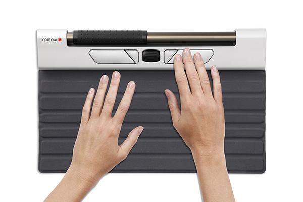 RollerMouse-souris ergonomique- douleurs épaules souris ordinateur - position ordinateur - télétravail - support mal aux poignets - clavier