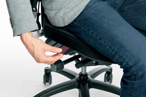 Réglage siège ergonomique - Logic 400 - Hauteur de l'assise