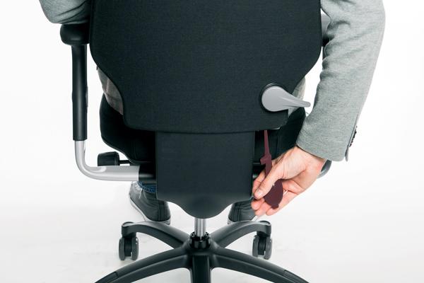 Réglage siège ergonomique - Logic 400 - Galbe du dossier - Pompe lombaire
