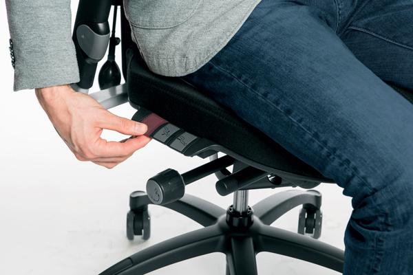Réglage siège ergonomique - Logic 400 - Profondeur de l'assise