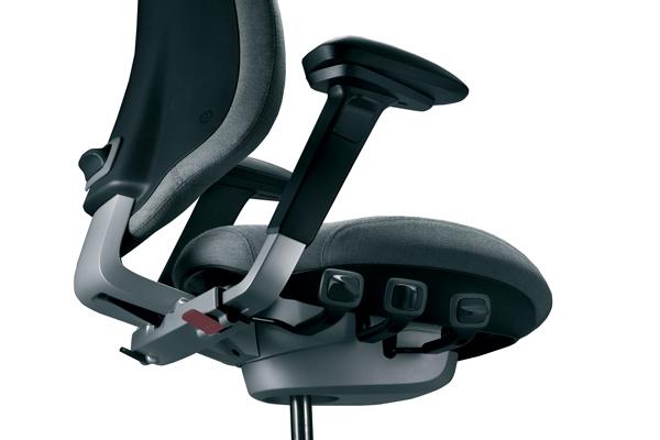 Réglages siège ergonomique - Mereo 220 - Ecartement des accoudoirs