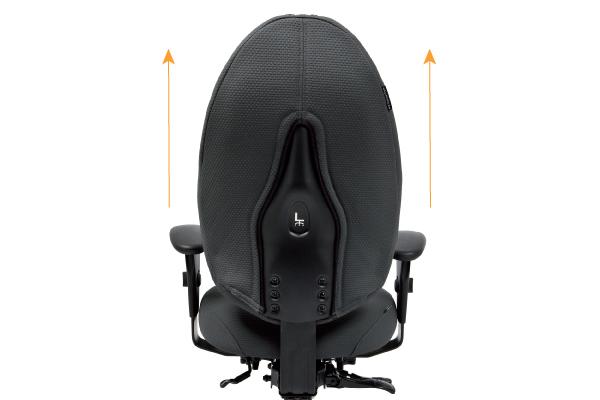 Réglage siège ergonomique - Relactive - Hauteur du dossier